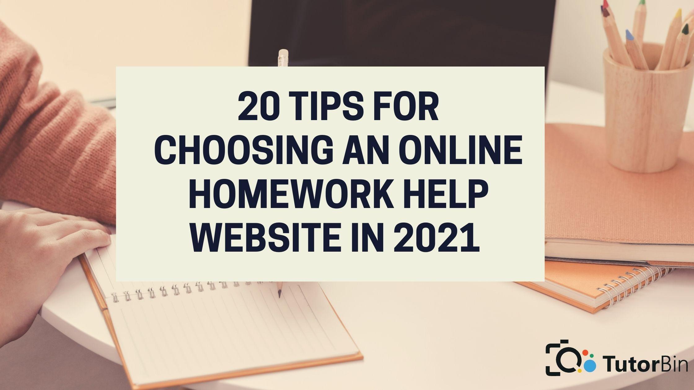 Online homework help website